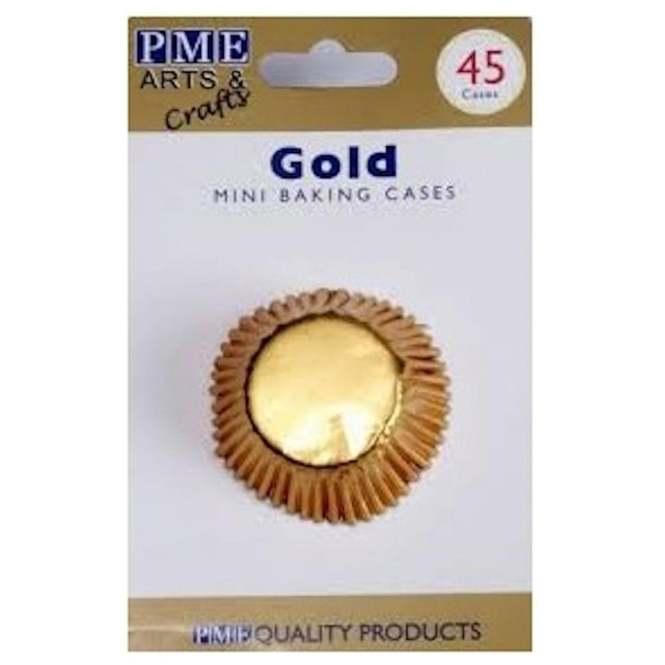 PME 45 Mini Gold Metallic Cupcake Liners