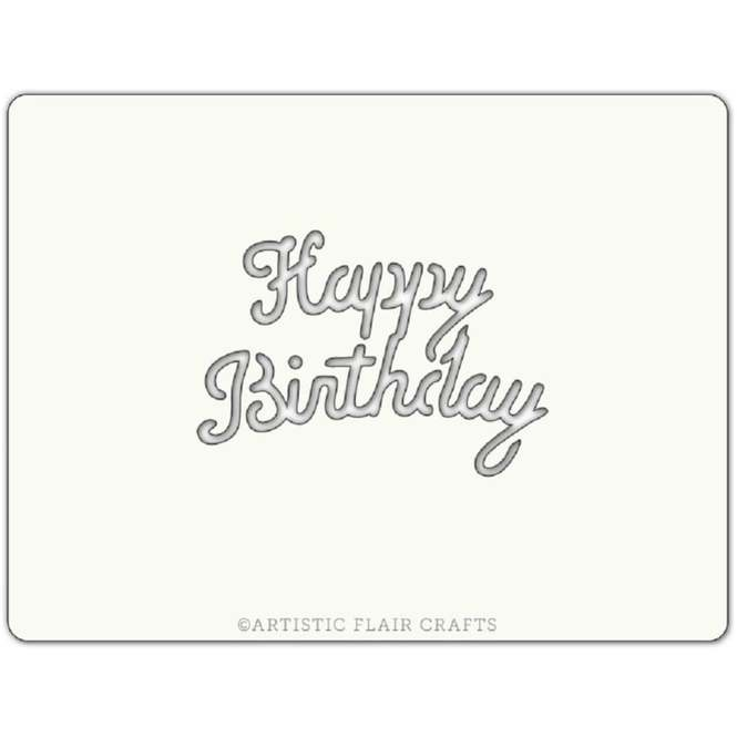 Sensational Artistic Flair Happy Birthday Pro Cake Icing Stencil From Only 1 49 Personalised Birthday Cards Vishlily Jamesorg