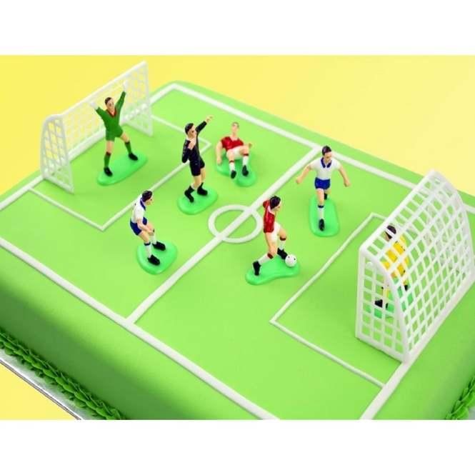 9 Piece Soccer//Football Set Cake Topper