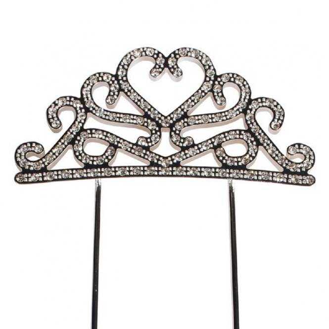 UK Stock Wedding Cake Topper Decor Tiaras Crown Kid Birthday Gift Girls Hairband