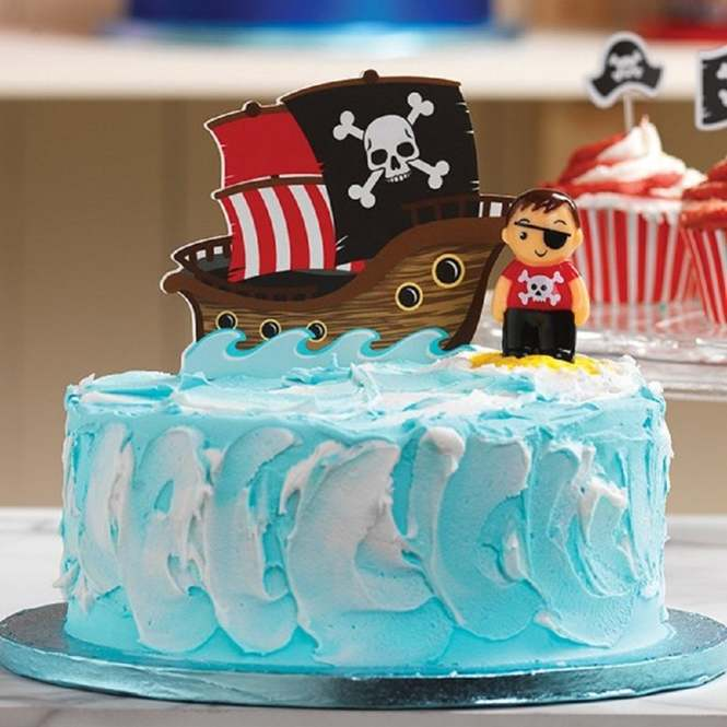 Fabulous Culpitt Pirate Ship Gumpaste Cake Topper Decoration From Only 3 36 Funny Birthday Cards Online Elaedamsfinfo