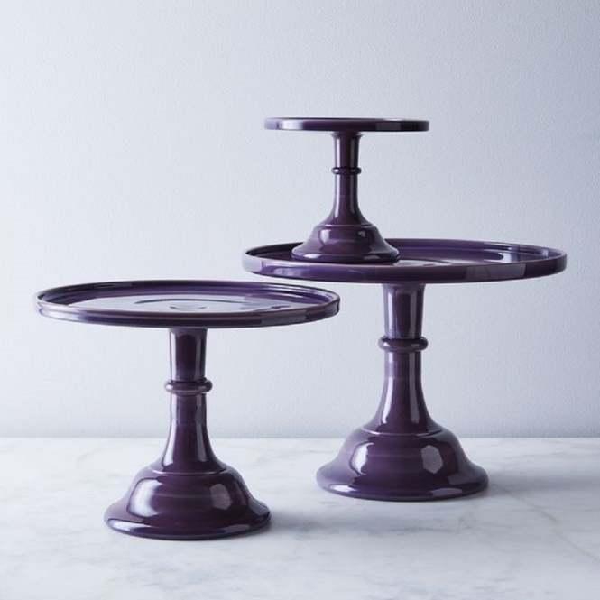 12 Eggplant Cake Stand