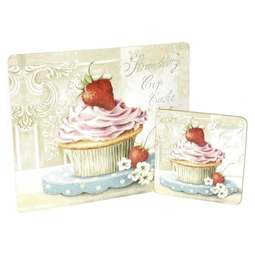 View the Strawberry Cupcake Mousepad & Coaster Set online at Cake Stuff