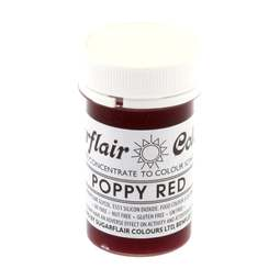 View the POPPY RED Tartranil paste gel icing / food colouring 25g online at Cake Stuff