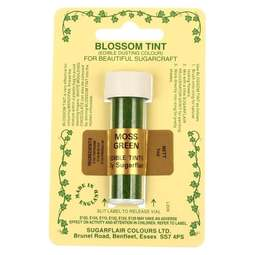 View the MOSS GREEN Blossom Tint icing dusting colour 7ml online at Cake Stuff