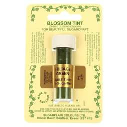 View the FOLIAGE GREEN Blossom Tint icing dusting colour 7ml online at Cake Stuff