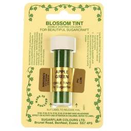 View the APPLE GREEN Blossom Tint icing dusting colour 7ml online at Cake Stuff