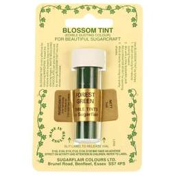 View the FOREST GREEN Blossom Tint icing dusting colour 7ml online at Cake Stuff