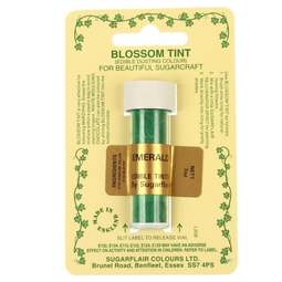 View the EMERALD GREEN Blossom Tint icing dusting colour 7ml online at Cake Stuff