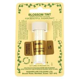 View the WHITE Blossom Tint icing dusting colour 7ml online at Cake Stuff