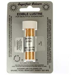 View the ROYAL GOLD Edible Lustre dusting icing colour 2g online at Cake Stuff