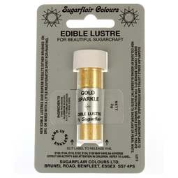 View the GOLD SPARKLE Edible Lustre dusting icing colour 2g online at Cake Stuff