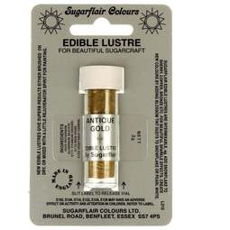 View the ANTIQUE GOLD Edible Lustre dusting icing colour 2g online at Cake Stuff