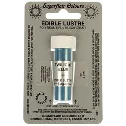 View the TWILIGHT BLUE Edible Lustre icing dusting colour 2g online at Cake Stuff