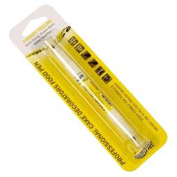 View the CANARY YELLOW Food Art double-ended edible ink icing colouring pen online at Cake Stuff