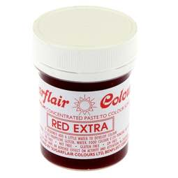 View the RED EXTRA max concentrated paste gel icing / food colouring 42g online at Cake Stuff