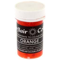 View the ORANGE Pastel paste gel icing / food colouring 25g online at Cake Stuff