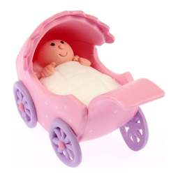 View the PINK PRAM claydough cake topper decoration online at Cake Stuff