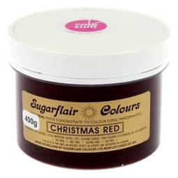 View the CHRISTMAS RED Spectral icing paste colouring BULK 400g online at Cake Stuff