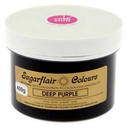 View the DEEP PURPLE Spectral icing paste colouring BULK 400g online at Cake Stuff