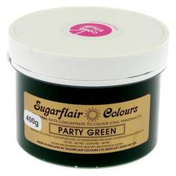 View the PARTY GREEN Spectral icing paste colouring BULK 400g online at Cake Stuff