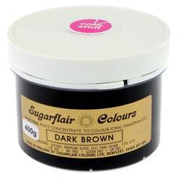 View the DARK BROWN Spectral icing paste colouring BULK 400g online at Cake Stuff