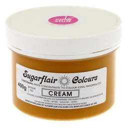 View the CREAM (ivory) Tartranil icing paste colouring BULK 400g online at Cake Stuff