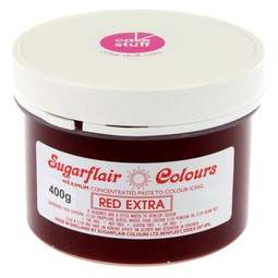 View the RED EXTRA max concentrated icing paste colouring BULK 400g online at Cake Stuff