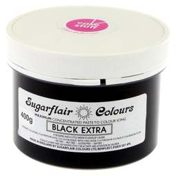 View the BLACK EXTRA max concentrated icing paste colouring BULK 400g online at Cake Stuff