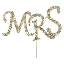 View the MRS - diamante cake & cupcake pick online at Cake Stuff
