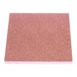 "View the 12"" PINK square thick cake board / drum online at Cake Stuff"