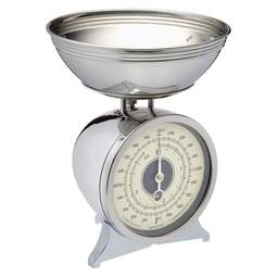 View the Chrome Plated Mechanical Kitchen Scales 2kg online at Cake Stuff