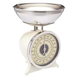 View the Cream Enamelled Mechanical Kitchen Scales 2kg online at Cake Stuff