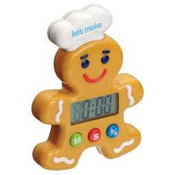 View the Little Cooks Gingerbread Man digital baking timer online at Cake Stuff