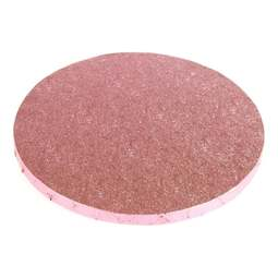 "View the 12"" PINK round thick cake board / drum online at Cake Stuff"