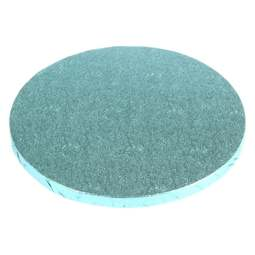 "View the 8"" BABY LIGHT BLUE round thick cake board / drum online at Cake Stuff"
