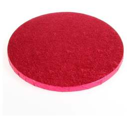 "View the 8"" CERISE HOT PINK round thick cake board / drum online at Cake Stuff"