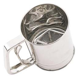 View the stainless steel trigger action icing sugar / flour sifter online at Cake Stuff