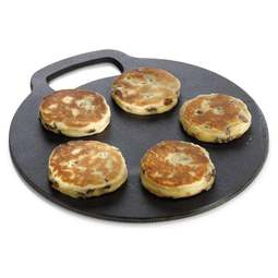 View the traditional Welsh baking stone / cast iron griddle 27cm online at Cake Stuff