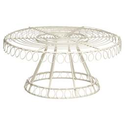 "View the Classic Collection traditional footed wire cake stand  10½"" online at Cake Stuff"