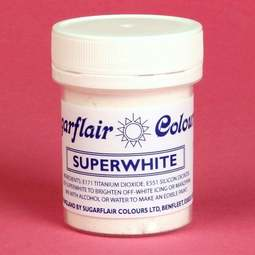 View the 20g SUPERWHITE icing whitener & buttercream colouring online at Cake Stuff