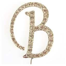 View the B - diamante cake / cupcake pick online at Cake Stuff