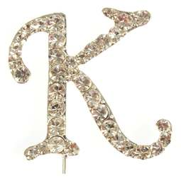 View the K - diamante cake / cupcake pick online at Cake Stuff