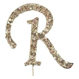 View the R - diamante cake / cupcake pick online at Cake Stuff
