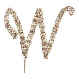 View the W - diamante cake / cupcake pick online at Cake Stuff