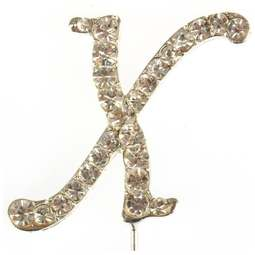 View the X - diamante cake / cupcake pick online at Cake Stuff