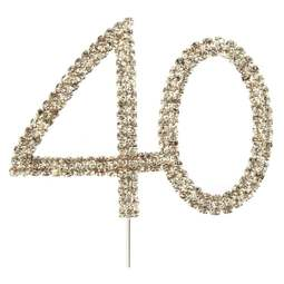 View the 40 - diamante cake / cupcake pick online at Cake Stuff