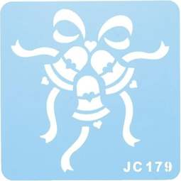View the wedding bells design icing stencil online at Cake Stuff