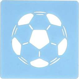 View the soccer football design icing stencil online at Cake Stuff