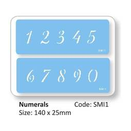 View the numbers / numerals 2 piece icing stencil set online at Cake Stuff